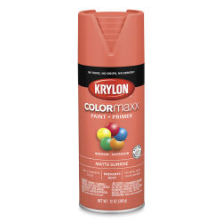 Krylon Colormaxx Spray Paint -  Sunrise, Matte, 12 oz