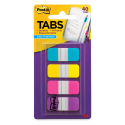3M Post-it Tabs - Bright Colors, Pkg of 4