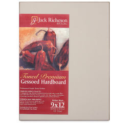 Richeson Toned Gesso Hardboard Panel - 4'' x 4'', Umber Wash