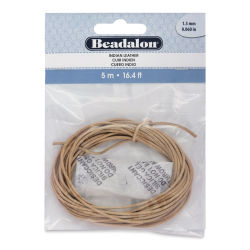 Beadalon Leather Cord - 1.5 mm x 5 meters, Natural