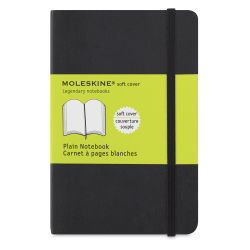 "Moleskine Classic Soft Cover Notebook - Black, Blank, 5-1/2"" x 3-1/2"""