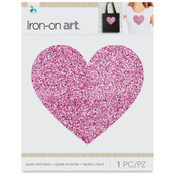 Momenta Iron-On Art - Pink Glitter Heart