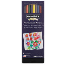 General's Kimberly Watercolor Pencil Set - Assorted Colors, Set of 8