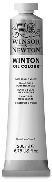 Winsor & Newton Winton Oil Color - Soft Mixing White, 200 ml tube