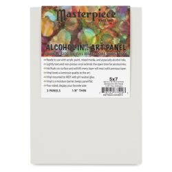 Masterpiece Alcohol Ink Art Panels - 5'' x 7'', Pkg of 3