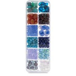 John Bead Czech Glass Bead Box Mix - Santorini Coast 2