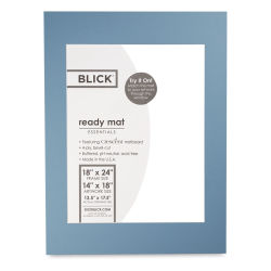 Blick Pre-Cut Mat - Biscay Blue, 18'' x 24'' (13-1/2'' x 17-1/2'' Opening)