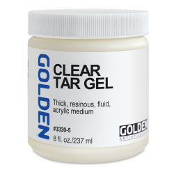 Golden Acrylic Gel Medium - Clear Tar, 8 oz jar