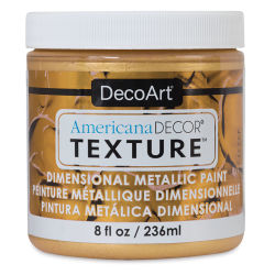 DecoArt American Decor Texture Paint - Gold Metallic, 8 oz