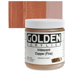 Golden Heavy Body Artist Acrylics - Iridescent Copper (Fine), 8 oz Jar