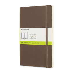 Moleskine Classic Soft Cover Notebook - Large, 8-1/4'' x 5'', Blank, Earth Brown