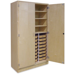 Tote Tray Storage Cabinet - 24 Trays, 48'' x 84'' x 22''