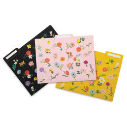 Paper Source Waste Not Paper Floral File Folders - Pkg of 6