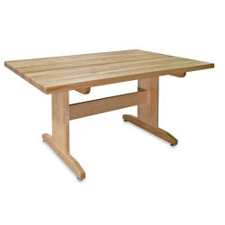 Hann Art Table - 60'' x 29 1/4'' x 42'', Squared Corners, Maple Top