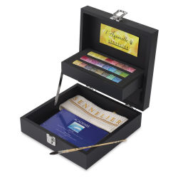 Sennelier French Artists' Watercolor Set - Wood Box Set of 24