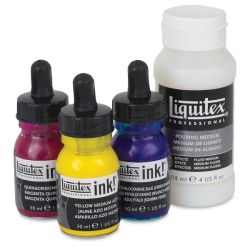 Liquitex Professional Acrylic Ink - Pouring Technique Set, Primary Colors