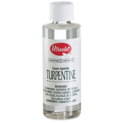 Utrecht Pure Gum Turpentine - 4 oz bottle