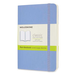 "Moleskine Classic Soft Cover Notebook - Light Blue, Blank, 5-1/2"" x 3-1/2"""