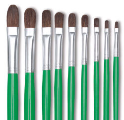 Blick Economy Sable Brush Set - Filbert, Long Handle, Set of 4