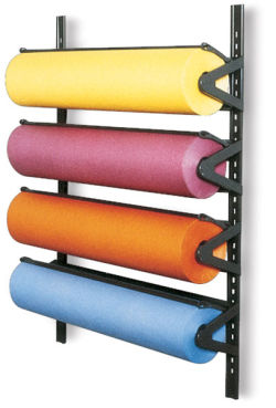 Paper Rack - 36'', Wall Mounted, 3 Roll Unit