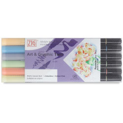 Zig Art & Graphic Twin Markers - All Seasons, Set of 6