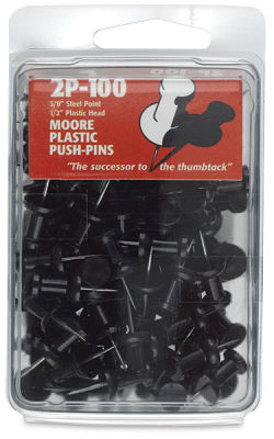 Plastic Push Pins, Box of 100