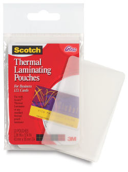 Scotch Thermal Laminator Pouches - 2'' x 3-1/2'', Business Card, Pkg of 20