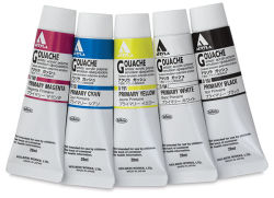 Holbein Acryla Gouache - Primary Set, Set of 5 colors, 20 ml Tubes