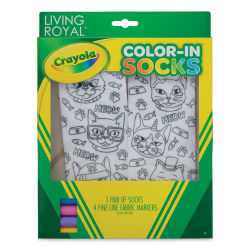 Living Royal Crayola Color-In Socks - Cat Vibes