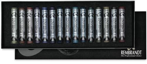 Rembrandt Soft Pastel Set - Dark Colors, Full Sticks , Set of 15
