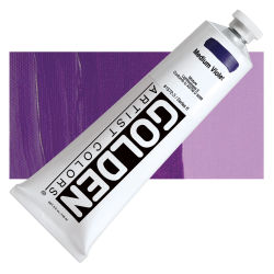 Golden Heavy Body Artist Acrylics - Medium Violet, 5 oz tube