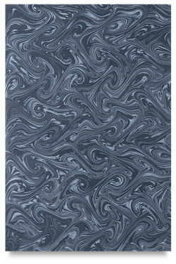 Books by Hand Marbled Paper - 12'' x 19'', Gray/Black