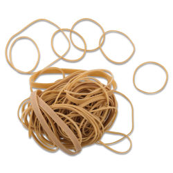 Officemate Rubber Bands - Natural, Assorted Sizes