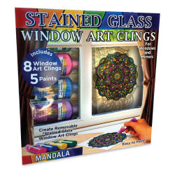 Joy of Coloring Stain Glass Window Art Cling Kit