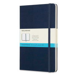 "Moleskine Classic Hardcover Notebook - Sapphire Blue, Dotted, 8-1/4"" x 5"""