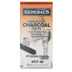 General's Compressed Charcoal - 4B, Pkg of 12