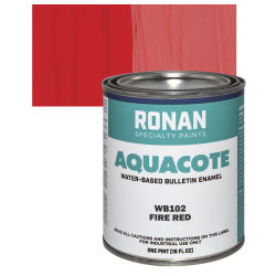 Ronan Aquacote Water-Based Acrylic Color - Fire Red, Pint