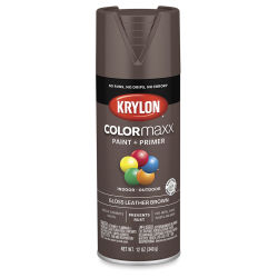 Krylon Colormaxx Spray Paint - Leather Brown, Gloss, 12 oz