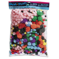 Darice Assorted Pom Poms - The Big One Giant Bag, Assorted Colors