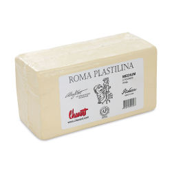 Chavant Roma Plastilina Modeling Clay, White - Medium