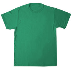 First Quality 50/50 T-Shirts, Adult Sizes - Kelly Green Small