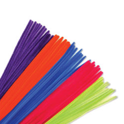 "Krafty Kids Chenille Stems - Neon, Assorted Colors, 12"", Package of 40"