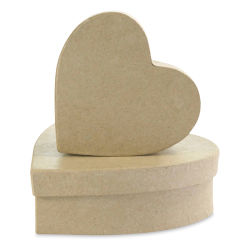 DecoPatch Paper Mache Boxes - Hearts, Set of 2