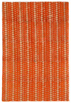 Lokta Paper - Batik Beans, Orange, 20'' x 30''