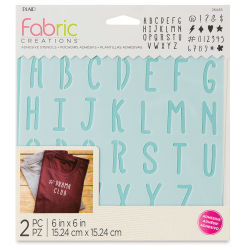 Plaid Fabric Creations Adhesive Stencil  - Alphabet, 2 Stencils, 6'' x 6''