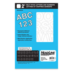 "Headline Vinyl Letters and Numbers – 2"" Letters and Numbers, Helvetica, White"