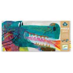 Djeco Giant Floor Puzzle - Leon the Dragon, 58 Pieces