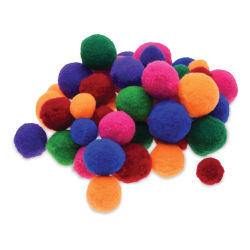 Krafty Kids Soft Pom Poms - Brights, Package of 48