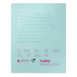 Legion Yupo Watercolor Paper Pad - 11'' x 14'', Translucent, 15 Sheets