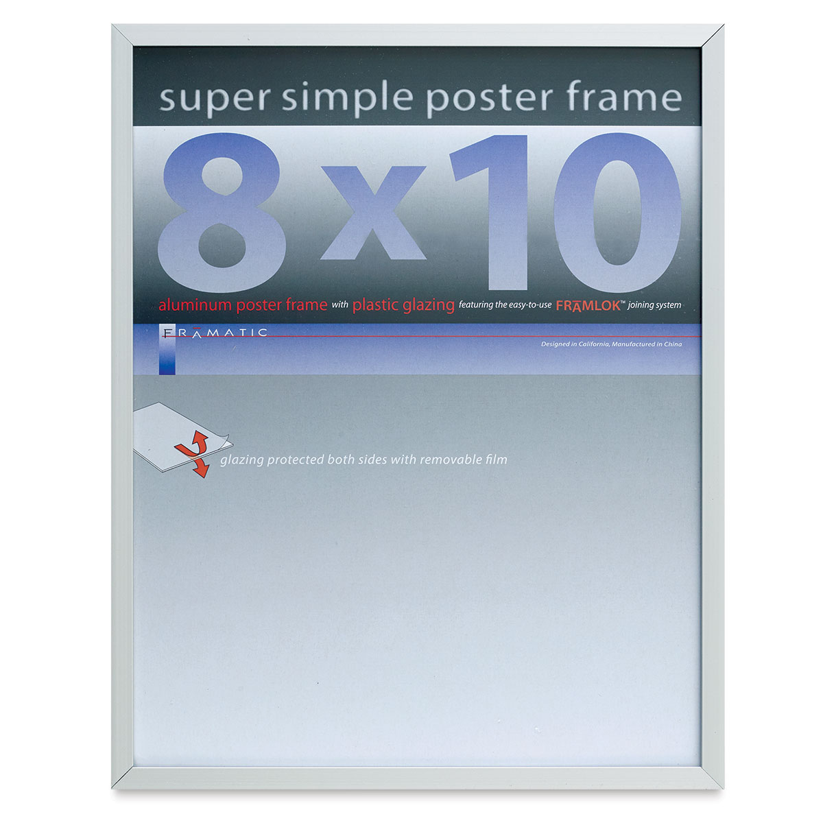 Framatic Super Simple Poster Frame - Silver, 8 x 10